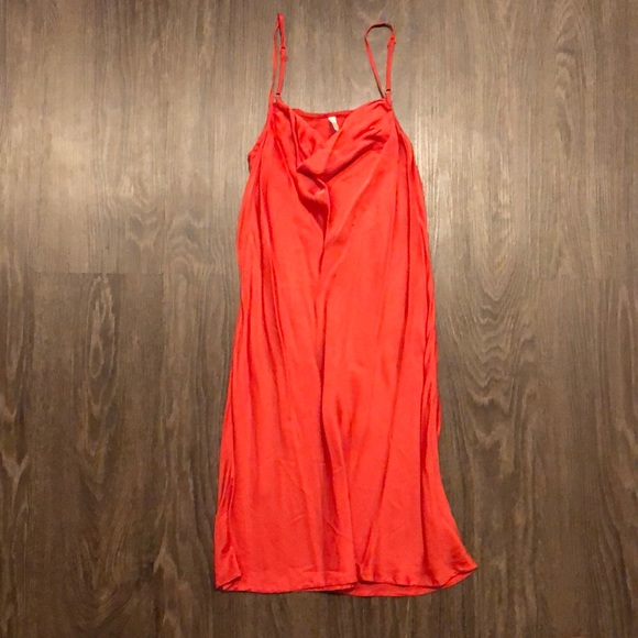 Urban outfitters Luna Satin Cowl Neck Slip Dress